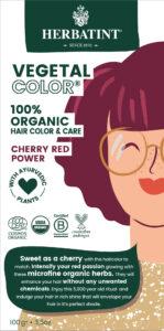 Herbatint kasviväri valkovihreässä pahvipakkauksessa sävyssä cherry red power.