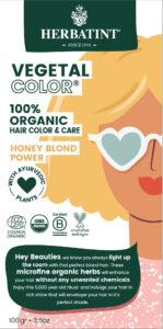 Herbatint kasviväri valkovihreässä pahvipakkauksessa sävyssä honey blond power.