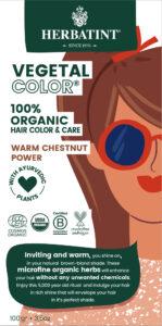 Herbatint kasviväri valkovihreässä pahvipakkauksessa sävyssä warm chestnut power.